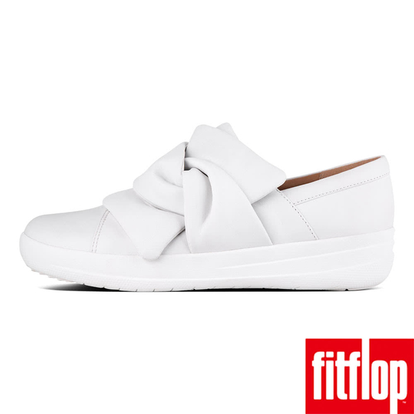 【FitFlop】F-SPORTY II BOWY LEATHER SLIP-ON SNEAKERS(都會白)