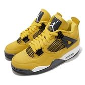 Nike 籃球鞋 Air Jordan 4 Retro Lightning 電母 黃 黑 AJ4 喬丹 男鞋【ACS】 CT8527-700