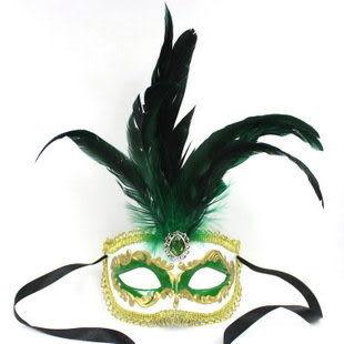 萬聖節面具 威尼斯羽毛