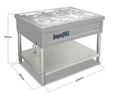不銹鋼商用電熱保溫售飯台4格6格8格10格保溫台快餐車湯池分餐台QM 向日葵