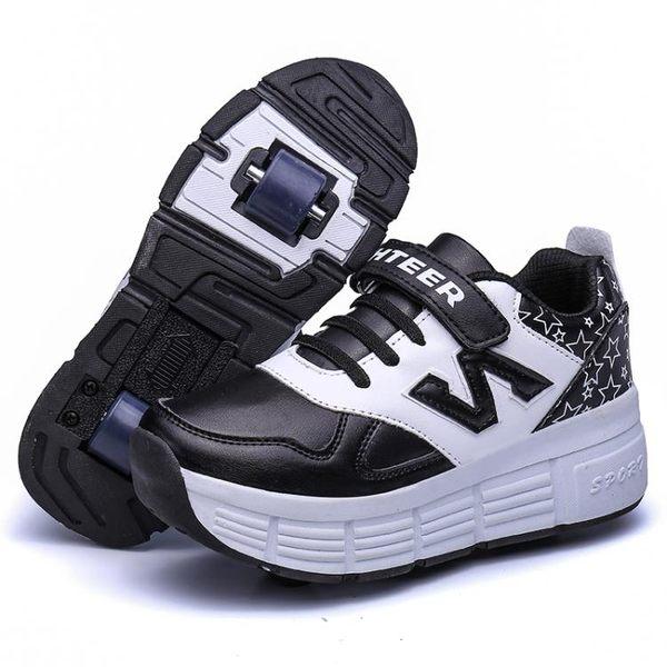 男童暴走鞋學生兒童滑輪鞋女童代步爆走鞋雙輪隱形成人飛行輪子鞋 衣間迷你屋