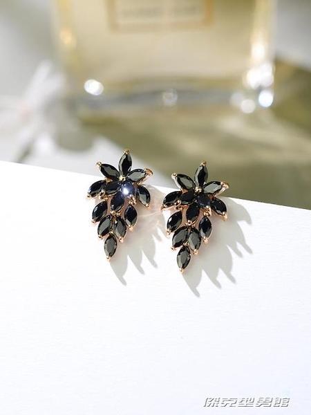冷淡風黑色耳釘氣質女網紅韓國簡約百搭高級感耳環耳飾 新年優惠