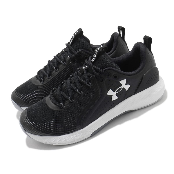 Under Armour 訓練鞋 UA Charged Commit TR 3 黑 白 黑白 男鞋 【ACS】 3023703001