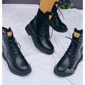 瘦瘦靴 ins潮鞋網紅瘦瘦短筒馬丁靴女2019新款百搭秋冬季加絨英倫風短靴35-40碼