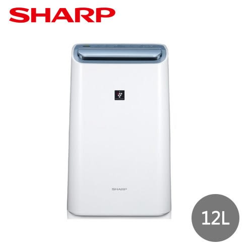 【SHARP夏普】12L自動除菌離子空氣清淨除濕機 DW-H12FT-W