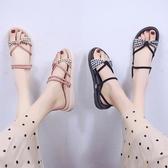 兩穿拖鞋女夏外穿2020新款仙女風學生平底涼鞋時尚百搭女鞋ins潮