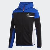ADIDAS Z.N.E. Full-Zip Hoodie 男裝 外套 寬型 連帽 拉鍊口袋 藍【運動世界】GM6532