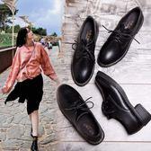 樂福鞋 小皮鞋潮秋季好康新品單鞋正韓百搭迷你復古英倫風黑色學生鞋子女