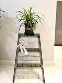 出口日本家用梯子折疊室內人字梯多功能置物三步梯加厚防滑踏板梯 【韓語空間】