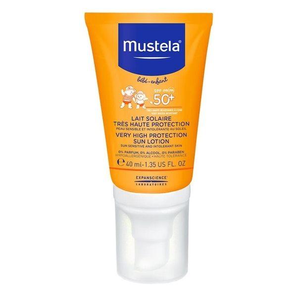 專品藥局 慕之恬廊 Mustela 高效性兒童防曬乳SPF50+ 40ml (法國原裝公司貨)