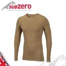 【Sub Zero 英國 Factor1+ 長袖無縫排汗衣《卡其》】Factor 1 PLUS/內衣/薄長袖/防曬