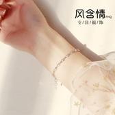 S925銀手錬女日韓簡約個性閨蜜學生森系玫瑰花甜美情侶送女友禮物