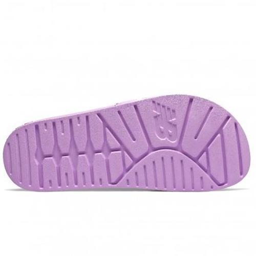 New Balance 女鞋 拖鞋 休閒 輕量 基本款 NB字樣 粉紫【運動世界】SWF200V1