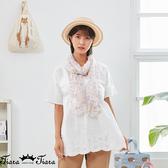 【Tiara Tiara】百貨同步新品aw  下擺刺繡素色上衣(白/黃)