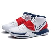 NIKE 籃球鞋 KYRIE 6 EP USA 白藍紅 美國隊 氣墊 耐磨 男 (布魯克林) BQ4631-102