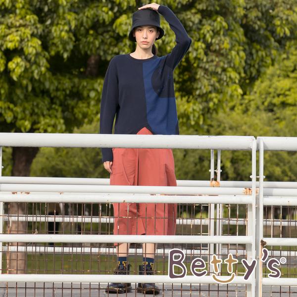 betty's貝蒂思 百搭素面七分寬褲(磚紅色)