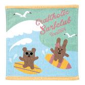 衝浪宇宙人 棉質小方巾 毛巾  SURF 日本正版 craftholic 該該貝比日本精品 ☆