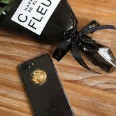 Goodnight原創土豪金箔水球蘋果6透明手機殼iPhone7plus全包硬ipx『新佰數位屋』