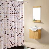 全館79折-衛生間滌綸歐式復古浴簾布酒店浴室窗簾不透明淋浴簾