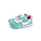 日本月星 MOONSTAR 魔鬼氈 撞色 透氣機能學步鞋 《7+1童鞋》C401 水色