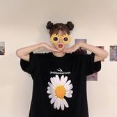 權志龍同款聯名大碼小雛菊短袖T恤女2020新款夏季原宿港風INS女裝 蘑菇街小屋