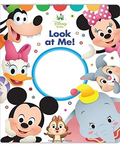 【麥克書店】DISNEY BABY LOOK AT ME/硬頁書《迪士尼幼兒認知學習書》