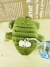【震撼精品百貨】San-X動物家族_鱷魚~絨毛鎖圈-綠