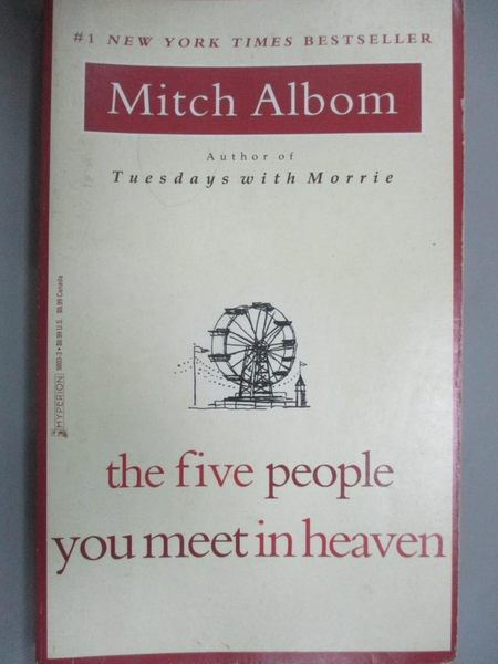 【書寶二手書T7/勵志_LOQ】Five people You Meet in Heaven_Mitch Albom