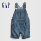 Gap男幼童 時尚做舊牛仔吊帶褲 681564-靛藍色