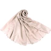 美國正品 COACH 經典小C LOGO羊毛混絲薄圍巾-米色【現貨】