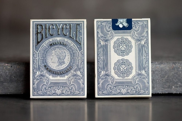 【USPCC 撲克】BICYCLE SILVER CERTIFICATE S1 美鈔撲克牌