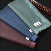 純棉男士圖案拼色手帕口袋巾