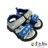 【樂樂童鞋】台灣製巴布豆軟底涼鞋-藍色 C095 - 男童鞋 兒童涼鞋 涼鞋 台灣製 現貨 巴布豆 MIT BOBDOG