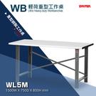 【樹德工作桌】WL5M 輕荷重型工作桌 工廠 工具桌 背掛整理盒 工作站 鐵桌 零件桌 櫃子