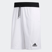 Adidas 3-Stripes 男款白色透氣運動短褲-NO.FN2363