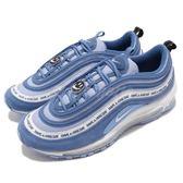 Nike 休閒慢跑鞋 Air Max 97 ND 藍 白 麂皮 小字設計 復古 運動鞋 男鞋 【PUMP306】 BQ9130-400