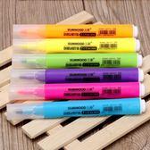 雙十二狂歡熒光筆6色套裝 學生用三木5506 粗頭 彩色熒光標記筆記號筆【潮咖地帶】