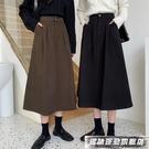 半身裙高腰半身裙女2021秋冬季工裝風百搭顯瘦小個子遮跨中長款A字裙子 風馳 雙11特價