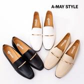 包鞋-MIT秀氣素雅一字金飾紳士鞋