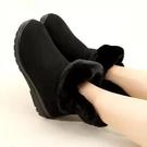 新款中老年時尚老北京布鞋百搭雪地靴保暖加絨女靴子平跟軟底防滑休閒女棉鞋