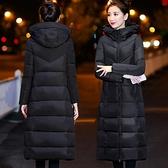 棉服 加厚羽絨棉服女中長款修身過膝2021新韓版棉衣連帽冬季棉襖外套【快速出貨八折搶購】