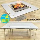 不鏽鋼焚火台圍爐桌(送收納袋)便攜式折疊...