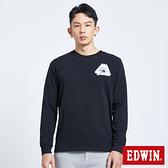 EDWIN EFS 速線錯位薄長袖T恤-男款 黑色