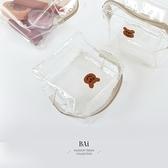 可愛小熊萬用收納透明化妝包-BAi白媽媽【316148】