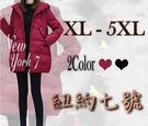 大尺碼 顯瘦寬鬆百搭羽絨外套 2色  XL -5XL【紐約七號】LG-404