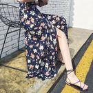 裙子中長款半身裙一片式裹裙雪紡長裙    琉璃美衣