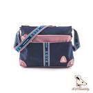 B.S.D.S冰山袋鼠 - 非常莓好 - 織帶拼接多層百搭斜背包 - 甜粉藍【7010-BP】