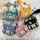 斜挎包女新款小包包可愛帆布包女學生韓版日系文藝ins單肩小方包 小艾新品