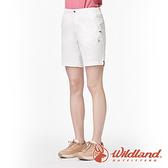 【wildland 荒野】女 彈性抗UV五分短褲『米白』0A91381 戶外 休閒 運動 露營 登山 騎車