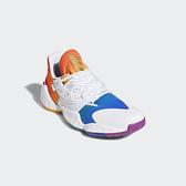 Adidas Harden Vol.4 Pride男款白色彩虹底哈登籃球鞋-NO.FX4797
